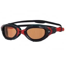 Zoggs Predator Flex Polarized Ultra Swimming Goggles Black/Red