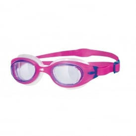 Zoggs Sonic Air Junior Swimming Goggles Purple/Pink